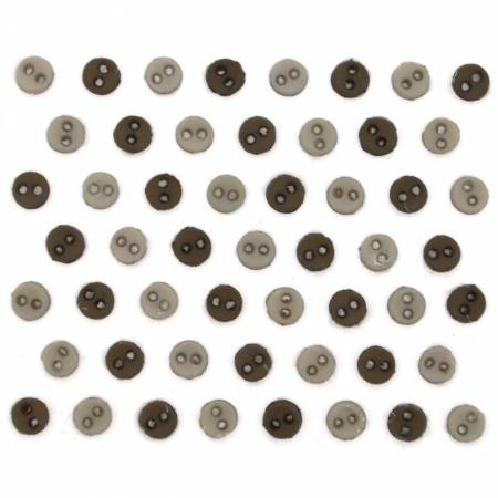 Micro Mini Round Buttons - Greige - 9522