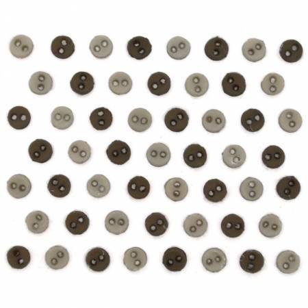 Round Greige Buttons