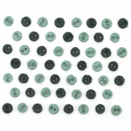 Micro Mini Round Buttons - Ivy - 9523