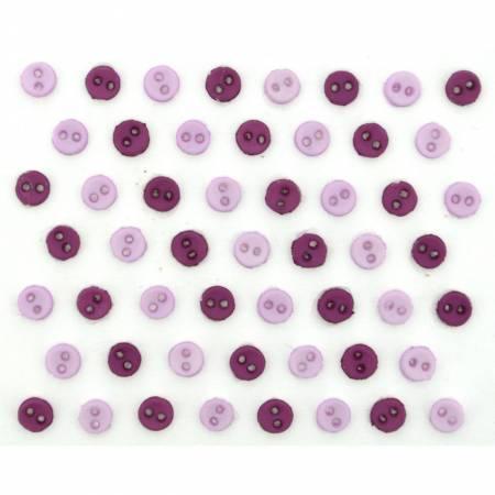 Micro Mini Round Buttons - Lavender - 9525