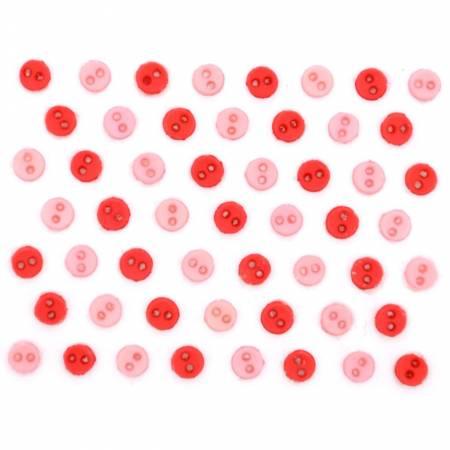 Micro Mini Round Buttons - Hydrangea - 9526