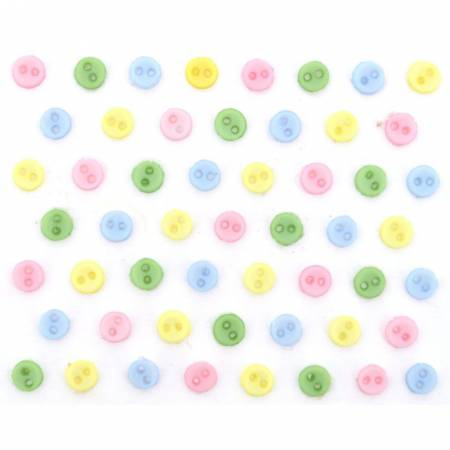 Micro Mini Round Buttons - Pastels - 9529