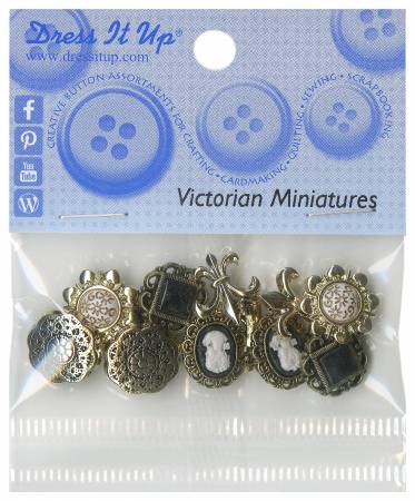 Victorian Minis 8ct Button Pack