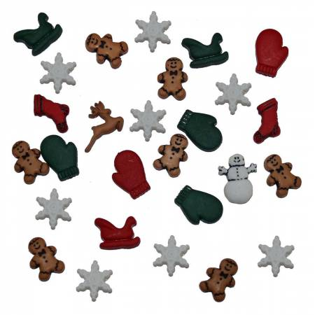 Christmas Miniatures Button Pack