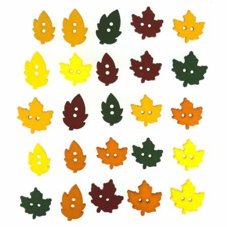 Autumn Raking Leaves Button Pack - 1196
