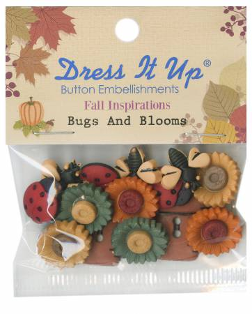 Autumn - Bugs and Blooms Button Pack - 1226