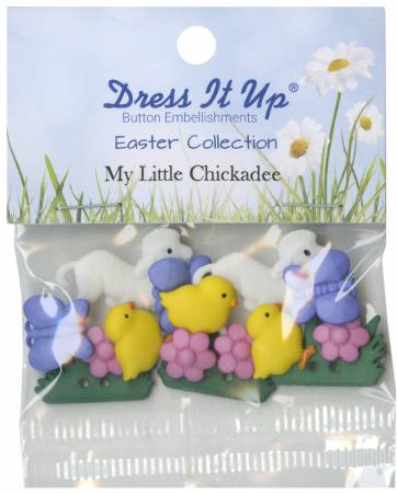 Easter My Little Chickadee 15ct Button Pack
