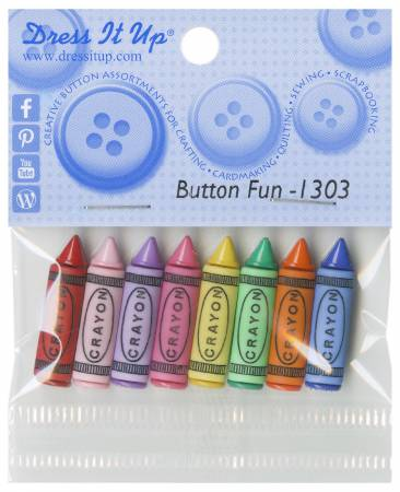 Fun Crayons Buttons