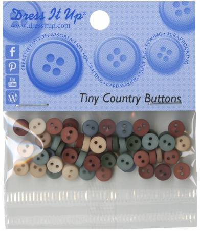 Tiny Round Buttons - Country - 1346