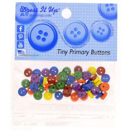Round Primary 40pc Button Pack