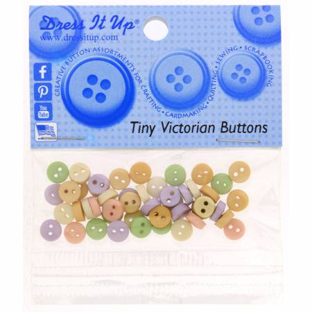1/4 Button - Victorian Mix