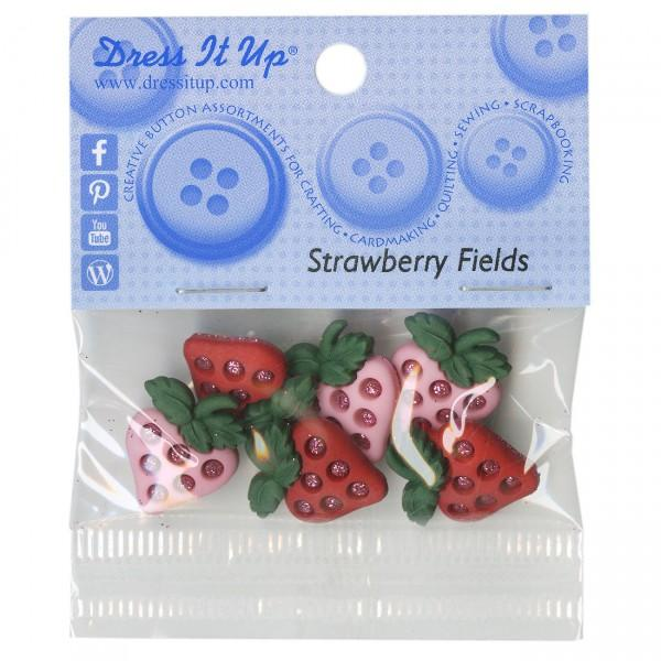 Strawberry Fields 5pc Button Pack