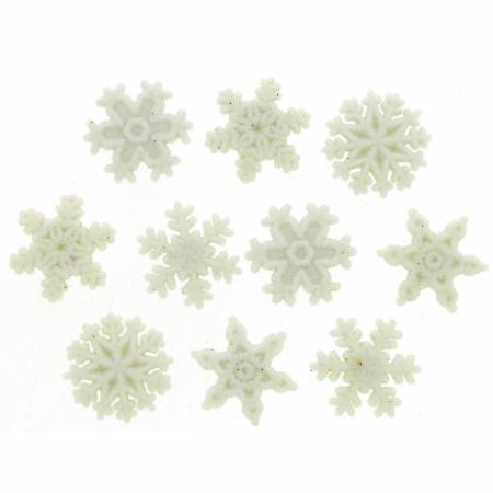 BUTTONS Glitter Snowflakes1445