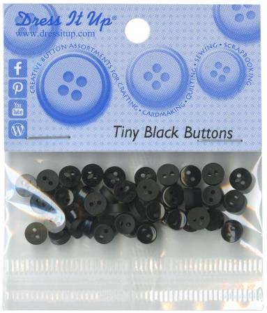 Tiny Black 40ct Button Pack