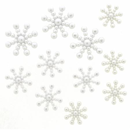 Snowflakes Button Pack - Pearl - 1629