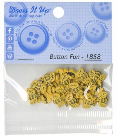 Tiny Bees 20ct Button Pack - 1858