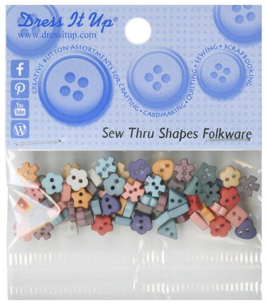 Sew Thru Shapes Folkware 50ct Button Pack*