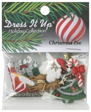 Christmas Eve Button Pack 7pcs