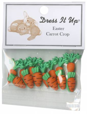 Easter Carrot Crop 13ct Button Pack - 3501