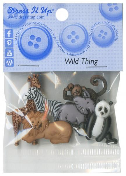 Wild Things Button Pack - 3600