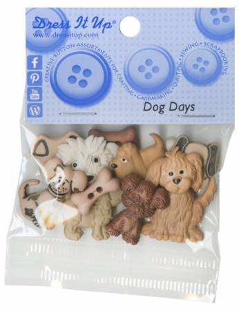 Dog Days 11ct Button Pack