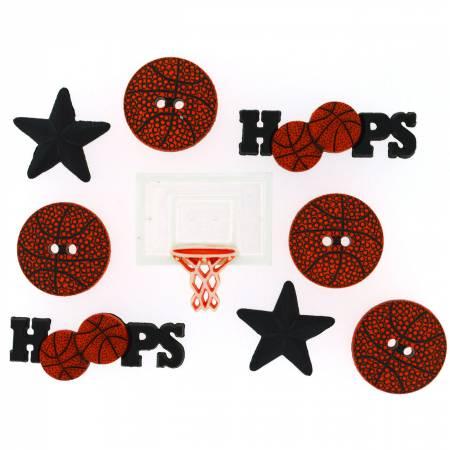 Dress It Up - Basketball Buttons