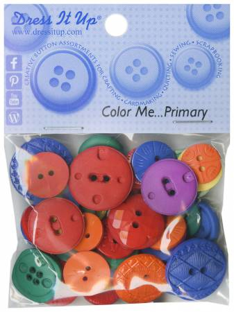Color Me Primary 18ct Button Pack