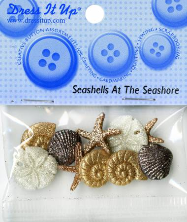 Seashells  Button Pack- 452