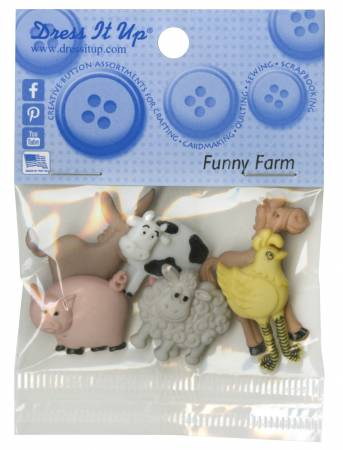 Funny Farm 7ct Button Pack