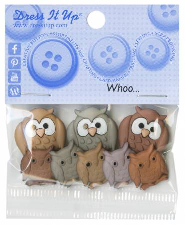 Whoo Button Pack - 5817