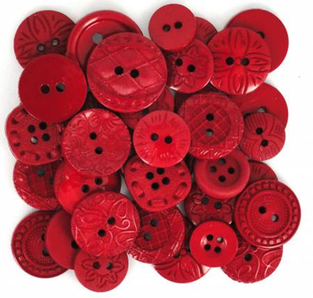 Color Me Red 18ct Button Pack