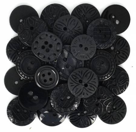 Color Me Black 18ct Button Pack