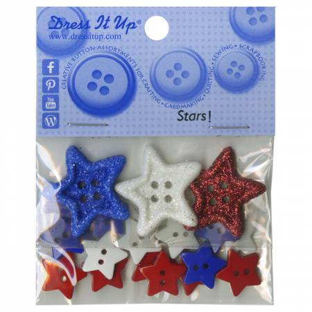Stars 18pc Button Pack