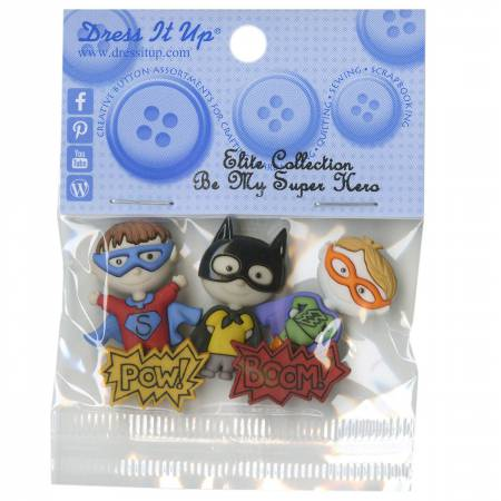 Be My Superhero 5ct Button Pack
