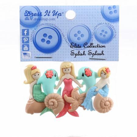Slish Splash Button Pack - 6556