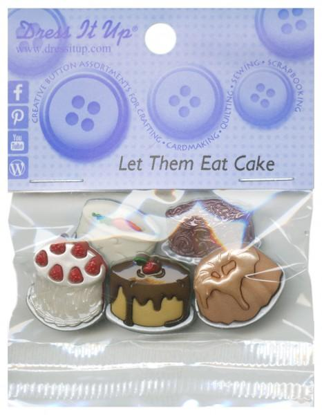 Let Them Eat Cake Button Pack - 6951