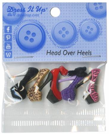 Head Over Heels 5ct Button Pack - 6963