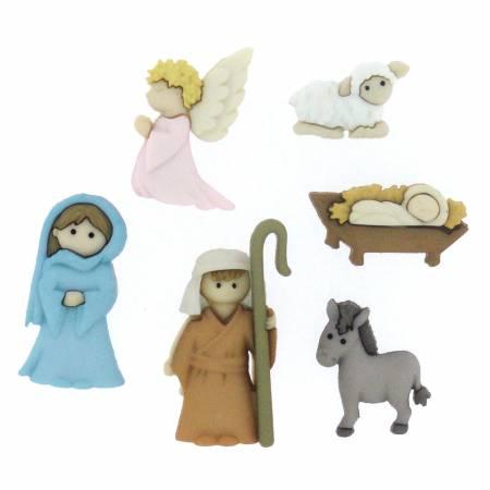 Dress It Up Nativity Buttons