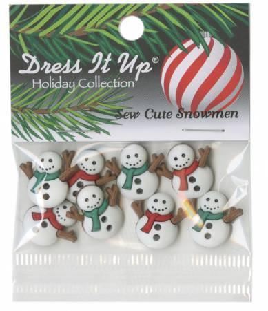 Sew Cute Snowmen 8ct Button Pack