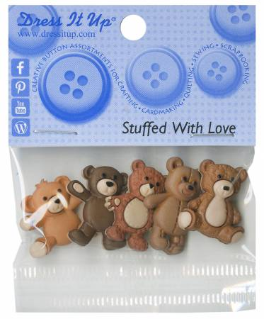 Stuffed with Love 5ct Button Pack