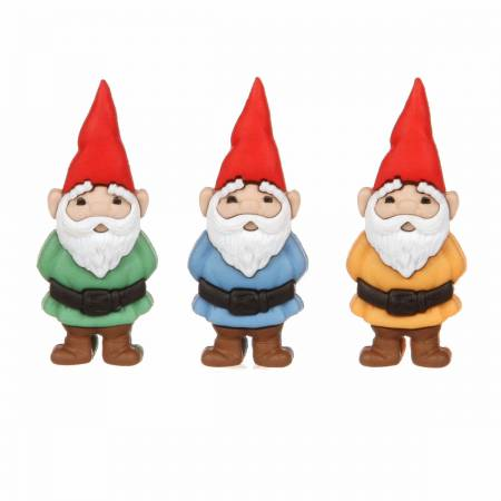 Garden Gnomes button pack