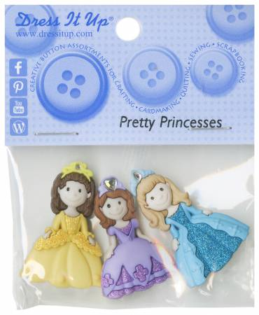 Pretty Princess 3 piece button set