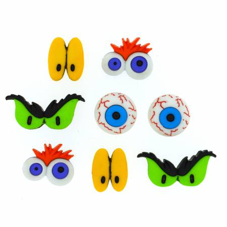 Monster Eyes Button Pack - 8047
