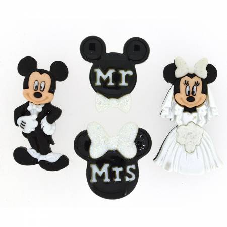 Mickey & Minnie Wedding Buttons