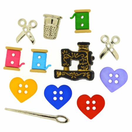 For The Love Of Quilting 9 ct Button Pack