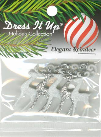 Elegant Reindeer Button Pack - 9076