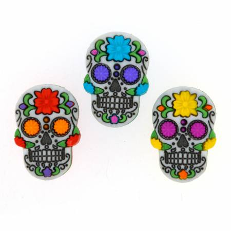 Day Of The Dead 3ct Button Pack - 9137