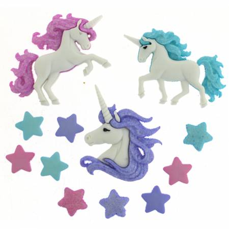 Magical Unicorns Button Pack - 9357