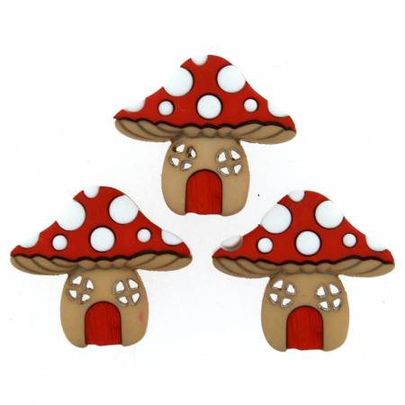 Mushroom Houses Button Pack - 9387