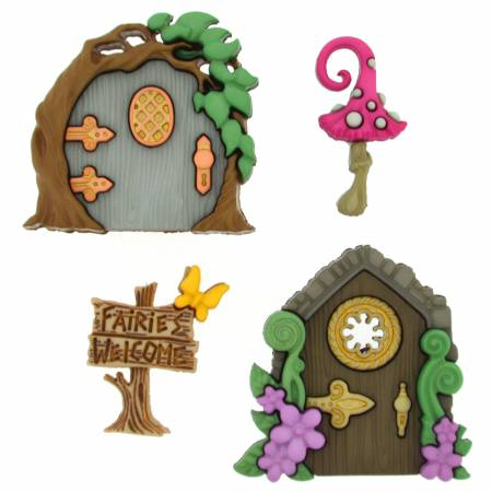 Believe in Fairies Button Pack - 9388